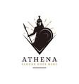 athena goddess logo vector image