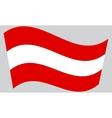 Austrian flag waving vector image vector image
