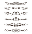 Beautiful stylized tattooes and ornament vector image vector image