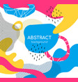 bright color chaotic shapes flat vector image vector image