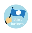 Business strategy development startup icon vector image
