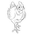 cartoon image of chicken vector image