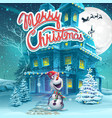 cartoon marry christmas vector image