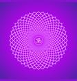 chakra sahasrara symbol vector image