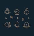 Coffee icon set template for logo line design