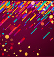 colorful abstract background on pink vector image vector image
