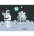cosmonaut astronaut landing planet lander icon vector image
