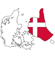 Danish hand signal vector image vector image