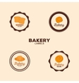 Delicious bakery labels vector image vector image