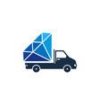 delivery diamond logo icon design vector image vector image