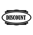 Discount oval label icon simple style vector image vector image