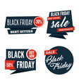 flat black friday colorful shaped banners price vector image vector image