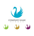 goose logo template isolated sign symbol vector image vector image