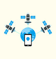 gps tracking vector image