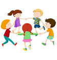 group of chidlren holding hand vector image vector image