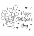 hand draw children day doodles vector image vector image