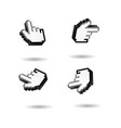 hand pointer cursor set vector image vector image