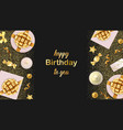 happy birthday to you greeting web banner vector image vector image