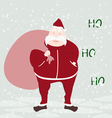 happy Santa Claus face greeting isolated with back vector image vector image
