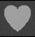 heart shaped background design from white dots vector image vector image