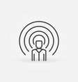 influencer concept icon in thin line style vector image