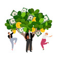 investment profit money tree vector image