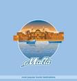 island malta in a circle vector image vector image