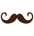 Isolated brown mustache vector image