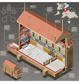 Isometric Infographic of Sistina Chapel of Vatican vector image vector image
