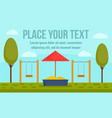 kid playground concept banner flat style vector image