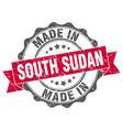 made in south sudan round seal vector image vector image