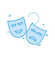 mask icon design vector image