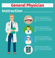 medical equipment manual for general physician vector image vector image