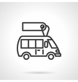 Minibus for sale black line design icon vector image