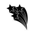 minimalist tattoo boho shooting stars silhouette vector image vector image