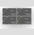 modern business card templates set vector image