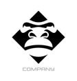 modern gorilla logo vector image vector image