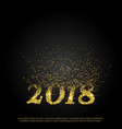 new year 2018 text made with particles bursting vector image vector image