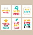 nursery kids posters set vector image