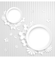 Paper flowers with two rings vector image vector image