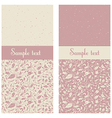 postcard in pink and beige colors with floral orn vector image vector image