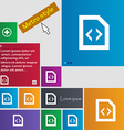 Programming code icon sign Metro style buttons vector image