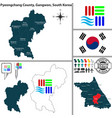 pyeongchang county in gangwon south korea vector image vector image