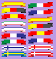 Ribbons of europe vector image