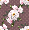 rose seamless pattern8 vector image vector image