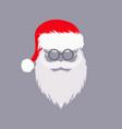 santa claus hat and beard vector image