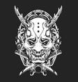 Scary mask ornamental