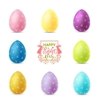set easter eggs isolated on white background vector image vector image