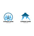 set of cloud house logo template vector image vector image