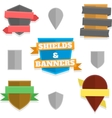 Shields and banners vector image vector image